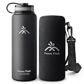 Fnova Flask 40oz Insulated Stainless Steel Water Bottle, Double Walled Vacuum Flask
